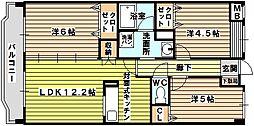大阪府大阪市東淀川区豊新4丁目の賃貸マンションの間取り
