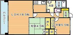 明生サニーマンション相生(分譲賃貸)[3階]の間取り