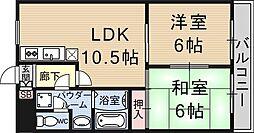 レジオン西大津[203号室号室]の間取り