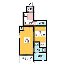 リサーチャー[1階]の間取り