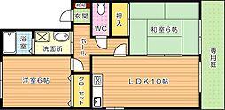 セジュール木屋瀬II[1階]の間取り