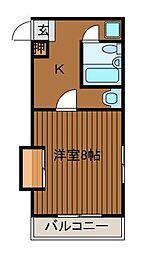 アビタント玉川学園[2階]の間取り
