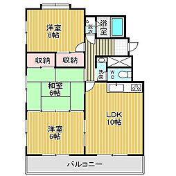 愛知県名古屋市中川区東春田3丁目の賃貸マンションの間取り