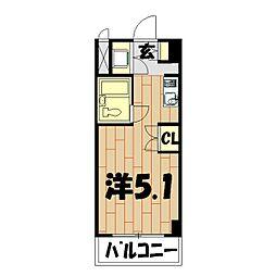 プロシード鶴ヶ峰[508号室]の間取り