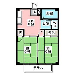 ヒーローハイツ[2階]の間取り