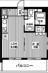 日神デュオステージ浦和高砂[8階]の間取り