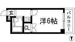 メゾン岸本[4階]の間取り