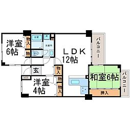 アミング潮江21-1[4階]の間取り