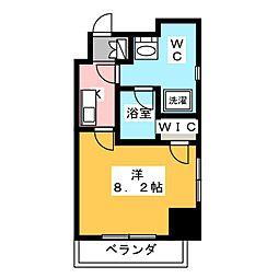 エスペランサK錦糸町 2階1Kの間取り
