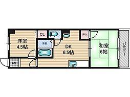 日誠マンション[4階]の間取り