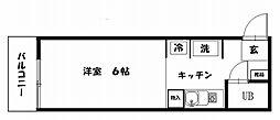 スカイコート横浜富岡[505号室]の間取り