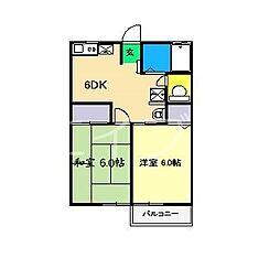 シティハイム横浜[1階]の間取り