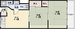 カサグレープ[2階]の間取り