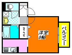 サンハイツ・横沼 205号室[2階]の間取り