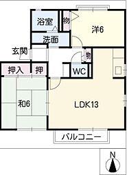 フォレストパークIII[2階]の間取り