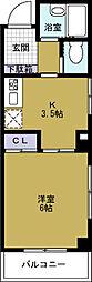 ハニーパーク[3階]の間取り