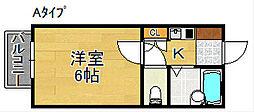 三研BLDロイヤル本館[5階]の間取り