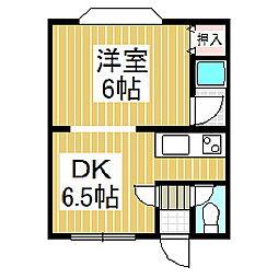 北海道苫小牧市日吉町2丁目の賃貸アパートの間取り