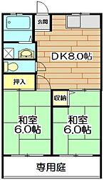 中島ハイム[1階]の間取り