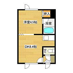 吉野ハイツ1[203号室]の間取り
