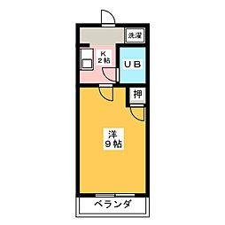 金吉ハイツ[3階]の間取り
