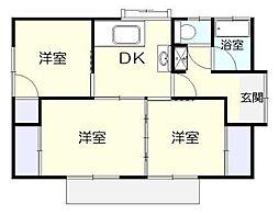 [一戸建] 千葉県君津市北子安6丁目 の賃貸【/】の間取り