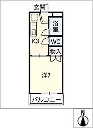 コーポホロンバイル[2階]の間取り