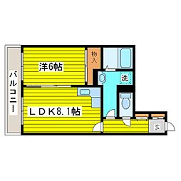 北海道札幌市東区北三十一条東13丁目の賃貸マンションの間取り