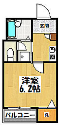 大阪府大阪市都島区中野町2丁目の賃貸マンションの間取り