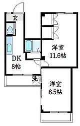 第2塚本ビル[203号室]の間取り
