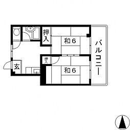石本マンション[303号室号室]の間取り