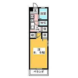 メディオ小幡[2階]の間取り