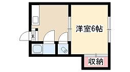 愛知県名古屋市昭和区円上町の賃貸アパートの間取り