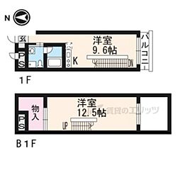 G−Design京都西院 1階1LDKの間取り