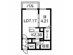 エフェクト南11条 A棟(旧名称:仮)南11条西8丁目MS A棟) 5階1LDKの間取り