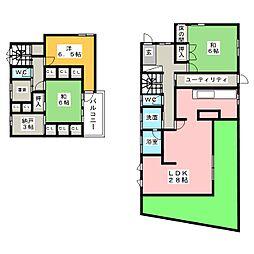 [一戸建] 愛知県名古屋市天白区野並3丁目 の賃貸【/】の間取り