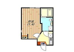 神奈川県横浜市南区睦町2丁目の賃貸アパートの間取り