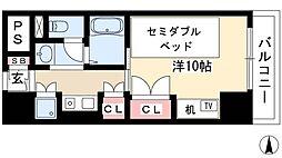 プログレンス栄 9階1Kの間取り
