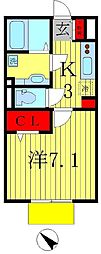 メゾン・ド・オール[1階]の間取り