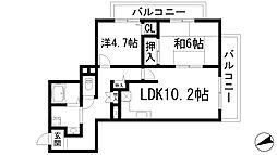 セントルピナス渋谷[2階]の間取り