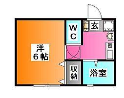 東京都北区神谷2の賃貸アパートの間取り