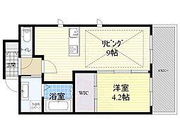 Osaka Metro御堂筋線 江坂駅 徒歩3分の賃貸マンション 5階1LDKの間取り