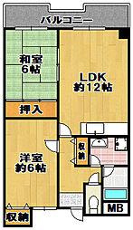 エトワール泉尾[2階]の間取り