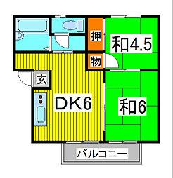 大木コーポ[2階]の間取り