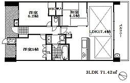 摩耶シティステーションゲート 5階3LDKの間取り