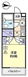 ジュネパレス船橋第37[1階]の間取り