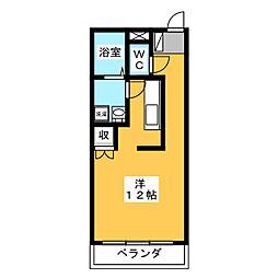レジデンス輝樹[4階]の間取り