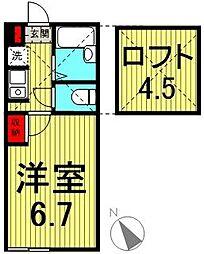 エクラ新子安[103号室]の間取り