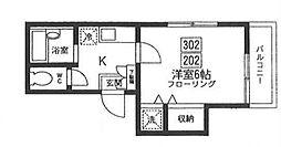 セレ早稲田[2階]の間取り