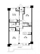 専有面積55.8m2・2SDK・全居室収納あり。